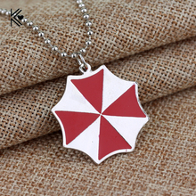 Buy 3D Movie Resident Evil Necklace Umbrella Chronicles Red Enamel Collares Pendant Classic Style Boutique Chain Necklace Gifts for $1.12 in AliExpress store