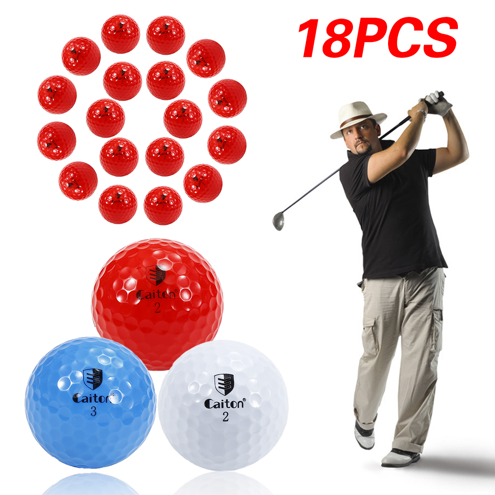 18 Pcs 4 Layer Golf Match Ball Tournament Golf Ball 40.35mm Golf Ball Synthetic Rubber Material Long Distance Throwing(China)