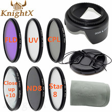 KnightX 52mm 55mm 58mm 67mm UV CPL FLD graduated polarizing color ND Filter Set for Canon Nikon Sony lenses d90 6D d3200 d5200