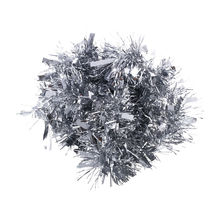2m (6.5ft) Deluxe Thick Chunky Wide Silver Shiny Christmas Tree Tinsel Garland with Embossing Decoration(China)