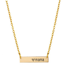 10pcs_Hot sale Heart Mama Necklace Bar Necklace Mom Necklace For Mom Gift Mother's Day Birthday Gift for Mom Mama Necklace(China)