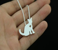 new fashion Sphynx cat necklace cat pendant jewelry Silver/gold colors plated(China)