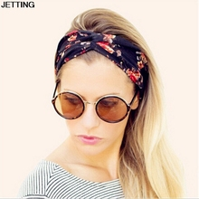 Women Bohemian Turban Twist Knot Head Wrap Floral Headband Twisted Knotted Hair Band Cotton Turban Headband(China)