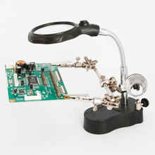 LED Clamp Soldering Iron Stand Helping Clamp Vise Clip Tool loupe Magnifying Glass Magnifier Crocodile Clip SMD Hands