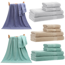 2pcs Bath Towels+2pcs Hand Towels Set Cotton Fast Absorbant Bath Towel Cloth for Bathroom Home Hotel Washing Cleaning Hand Hair