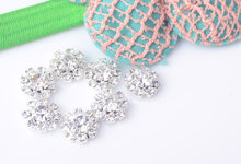 Crystal Rhinestone Embellishment Used On Flower Center 10mm 100pcs/lot Silver Color Flat Back