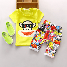 Baby Boy Summer clothing set 1 2 3 years old children sets nice cotton fashion style toolders 2pc suit A133