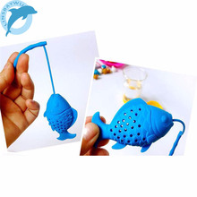 LINSBAYWU Silicone Cute Fish Fishing Shape Tea Leaf Herbal Strainer Filter Infuser Bags