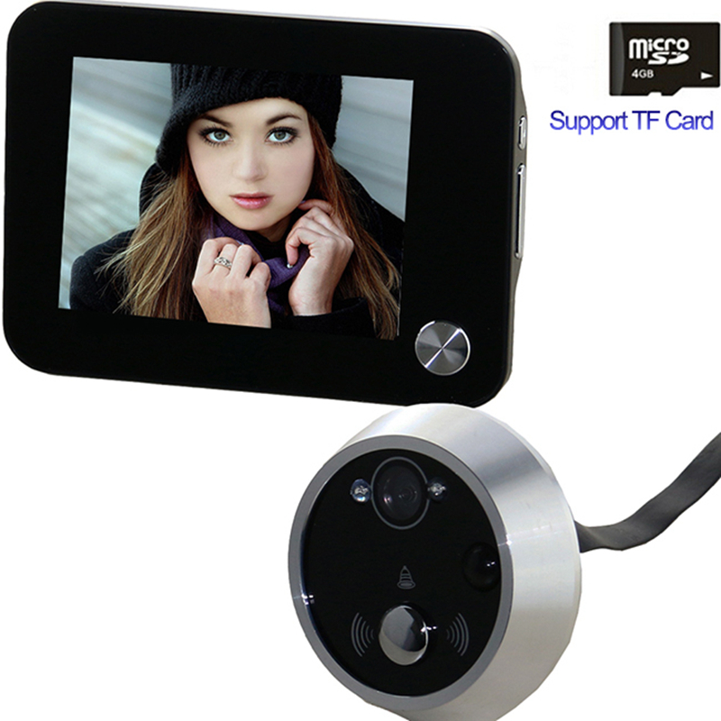 3.5Digital Peephole Door Viewer Wireless Doorbell Camera Eye Photo Snap Video Record Night Vision Motion Detect Home Security<br>