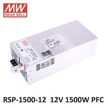 Meanwell 1500W SMPS PFC Function RSP-1500-12 12V DC led power supply 1500W 12V 125A Switching Power Supply Driver for LED Strip(China)