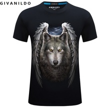 Givanildo 2017 Summer Funny Wolf 3D Printed Animal Men Short Sleeved T-Shirt Plus Size Korean Loose Cotton Male T Shirt BY127