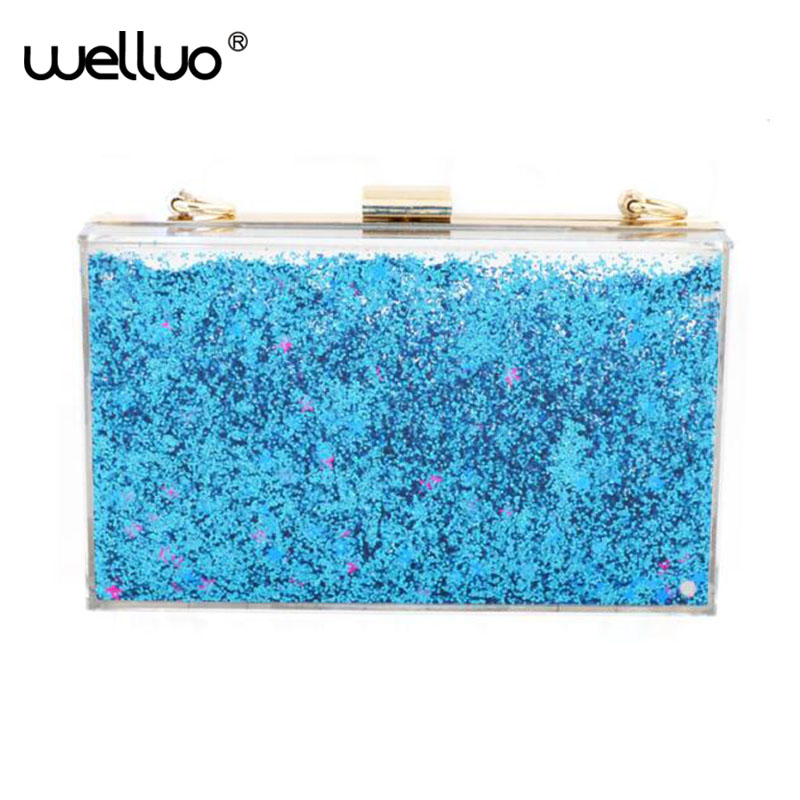 Transparent Acrylic Purse Clutch Bags Evening Clutch bags Women Chain Bags Fashion Bling with Crystals Luxury Handbags XA250B<br>