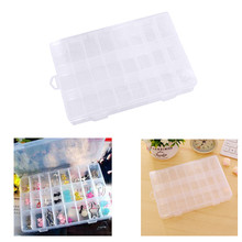 10/15/24Grid Nail Art Transparent Empty Plastic Storage Case Rhinestone Bead Dried Flower Earring Jewelry Box Container Manicure