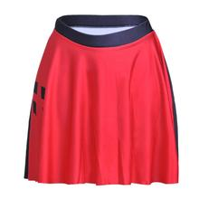 Black and Red Women Sexy Pleated Skirts Tennis Bowling Bust Shorts Skirts Plus Size  Rhomboids Female Fitness Apparel A Style