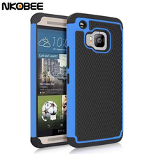 NKOBEE For HTC ONE M9 Case Cover Drop Resistance Hybrid Silicon Back Case Cover for HTC ONE M9 M 9 Heavy Duty Case for HTC M9(China)