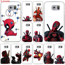 3D Super Cool Marvel Deadpool Hard Transparent for Samsung Galaxy S6 S7 S8 Edge Plus S5 S4 S3 & Mini Case Cover