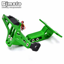 Motorcycle Adjustable Angle License Number Plate Frame Holder Bracket For Kawasaki Z800 z750 z1000 EX ninja 250 300 Sport Bike