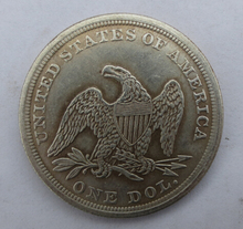 freeshipping 1854-p SEATED LIBERTY SILVER DOLLARS brass one dollar coins