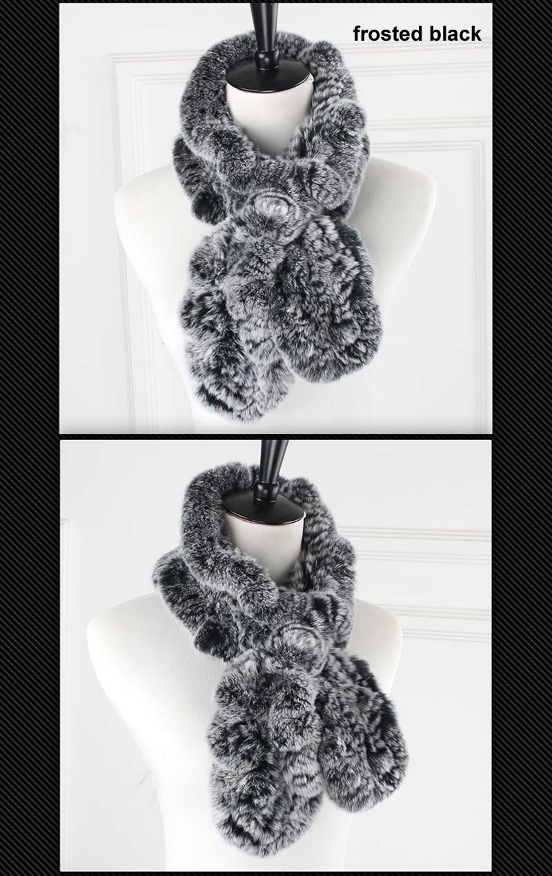 rex wavy scarf frosted black