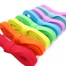 5M Flat Sewing Elastic Band Colored Cord 6mm Ribbon Stretchy Trim For DIY Sewing Craft 075-137