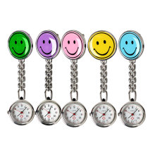 New Portable Smile Face Nurse Fob Brooch Pendant Pocket Quartz Watch  LXH