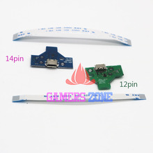 JDS-001 JDS-010 LED Power/Charge Board w/ Ribbon Cable for Sony PS4 Wireless Controller 12pin or 14pin
