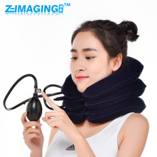 neck cervical traction device inflatable collar household equipment health care massage device nursing physiotherapy(China)