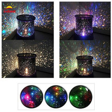 Buy Oobest Room Novelty Rotating Night Light Projector Lamp Rotary Flashing Starry Star Moon Sky Star Projector Kids Children Baby for $14.99 in AliExpress store