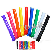 (300pairs/lot) Customized printing Inflatable cheering sticks /bang bang stick thunder stick for parties and sports games(China)