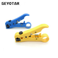 2017 Multitool Pliers Cable Automatic Electric Stripping Tool Utp/stp Rg59 Rg6 Rg7 Rg11 Multi Cutter Adjustable Striper(China)