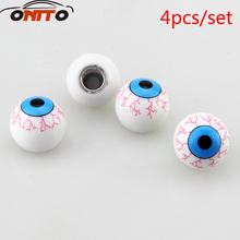 Hot selling 4pcs/lot Eye Ball Car Bike Moto Tires Wheel Valve Cap Cover Car Styling(China)