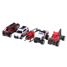 5pcs/set 1:64 Scale Ambulance Alloy Car Model Kids Children Car Truck Helicopter Toy Gift