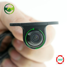 New 360 Degree Waterproof Mini CCD Night Vision Car Rear Front View Backup Camera With Mirror Image Conversion Lines