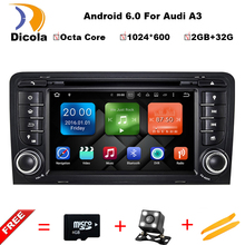Android 6.0 Octa Core 7 Inch In Dash Car DVD Player For Audi A3 2002-2011 With Canbus WiFi 4G GPS Navigation BT Radio Free Map