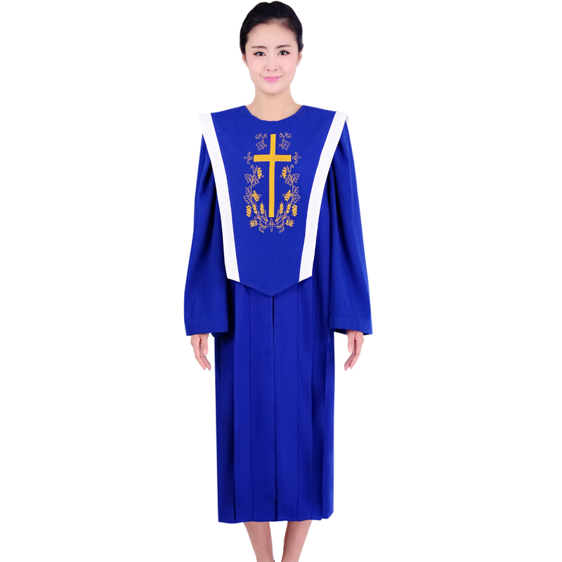 Hallelujah Blue Red Choir Gown Church Sing Robe Clergy Vestments European standard Church Dress a livello europeo la chiesa(China (Mainland))