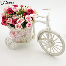 Floace Furnishings fun quality rattan bandwagon vase meters orchid DIY artificial flower set home decoration--(FL140075)(China)