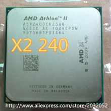 Original AMD Athlon II X2 240 CPU Processor (2.8Ghz/ 2M /2000GHz) Socket am3 am2+ 938 pin(working 100% Free Shipping)