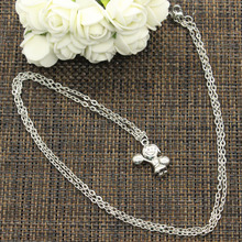 99Cents New Fashion Necklace cheerleaders girl 22*15mm Silver Pendants Short Long Women Men Colar Gift Jewelry Choker