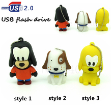 cartoon brown/white pet dog usb flash drive pen drive 4GB 8GB 16GB 32GB u disk cute animal flash disk pendrive Flash memory