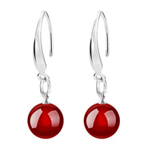 Big Brand 925 Sterling Silver 2 Color B Silver Earrings For Women Earrings Sterling-silver-jewelry Brincos VES6399