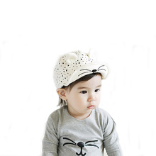 Baby Boys Girls Cartoon Peaked Baseball Cap Infant Kids Spring Summer Cotton Soft Brim Sun Hats Cute Cat Ears(China)
