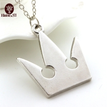 Game Jewelry Kingdom Hearts Silver Plated Royal Crown Pendant Necklace Cheap Wholesale Fashion Sora Chain Necklace For Women Men