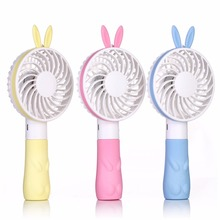 Portable Mini Small Fan Cooling Desktop USB battery handheld mini fan Cute mini ventilador Pink Blue Yellow