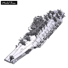 3D Metal Puzzle Adult DIY Assembled Teaser Model 3D Kids Educational Games Puzzles Metal Liaoning No. Aircraft Carrier