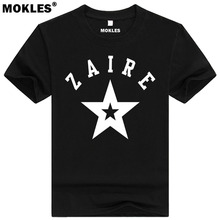 ZAIRE t shirt custom name number fashion tees pure color zar t-shirt nation flag tops za congo country french republic clothing