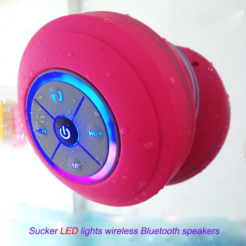 3W FM Radio Bathroom IPX4 Waterproof Suction Bluetooth Speaker Mini ...