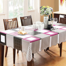 High Quality PVC Table Cloth Plastic Waterproof Oil Dining Tablecloths Coffee Printed Table Cover Overlay Rectangular