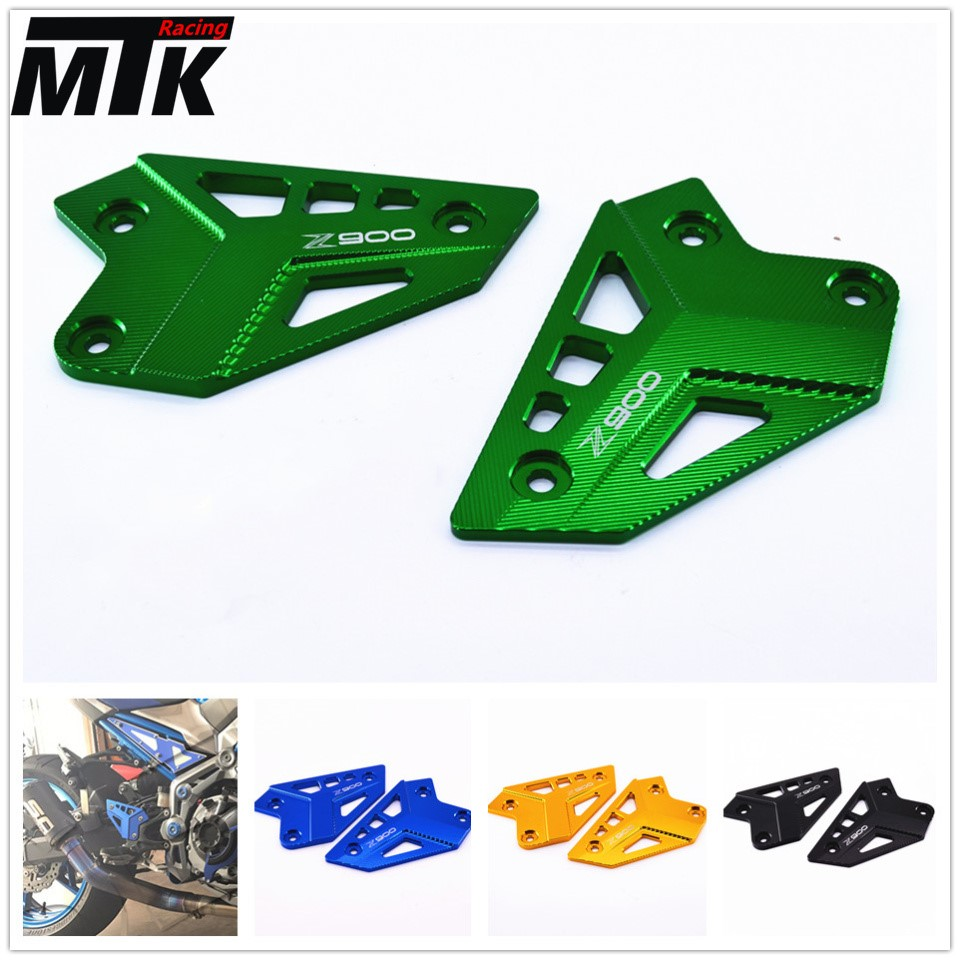 MTKRACING Motorcycle Accessories Foot Peg Heel Protection Protective Film Mount Heel Guard Protector For Kawasaki Z900 2017<br>