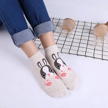 Buy 1 Pair Fashion Cartoon Socks Rabbit Fox Tiger Women Foot prints 3D Animals Style Warm Cotton Socks Lady Floor Socks Female for $3.36 in AliExpress store