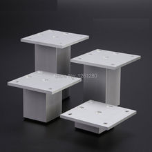 free shipping 4cm aluminum furniture bracket foot European bed TV cabinet coffee table sofa bookcase support leg hardware part